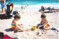 On the beach n florida many years ago